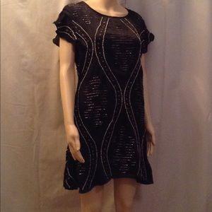 Free People Beaded Mini Dress NWT